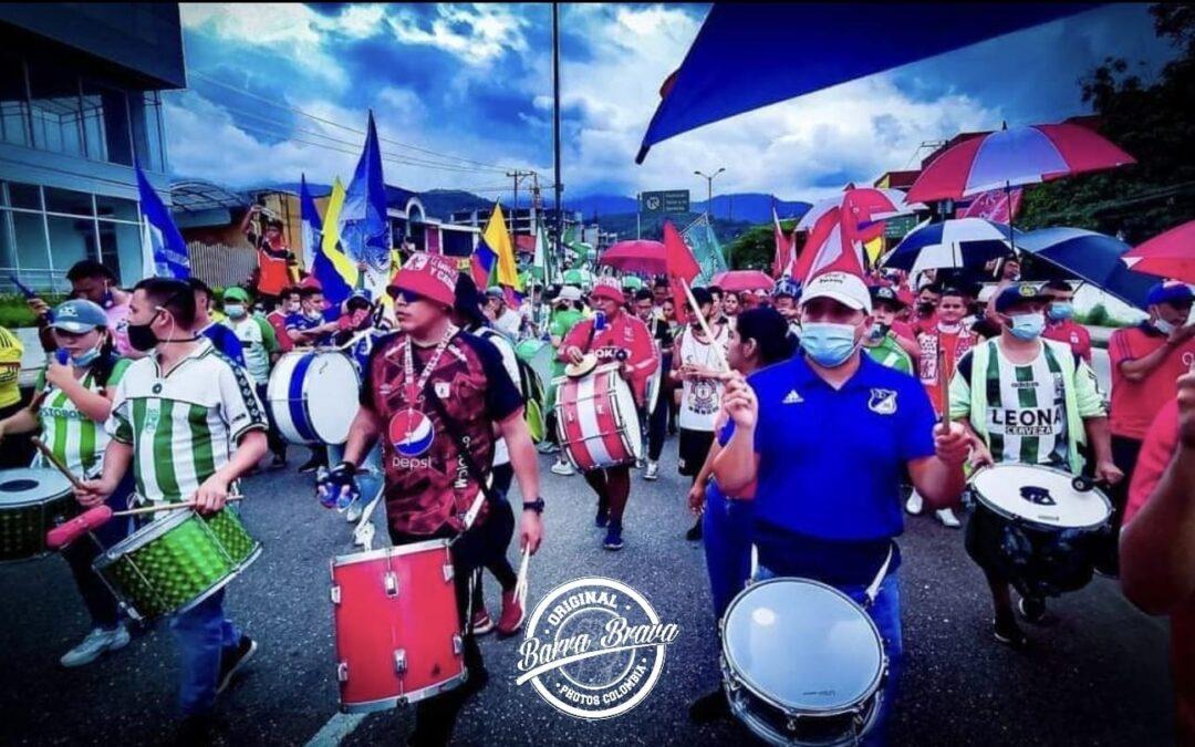 Colombia: fútbol, protestas y barrismo social